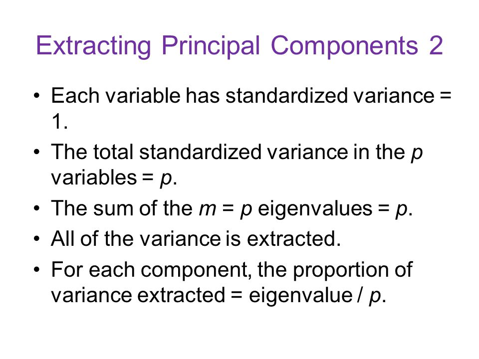 Extracting Principal Components 2