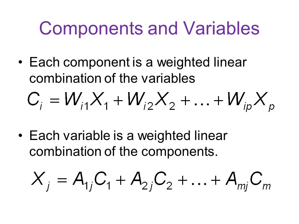 Components and Variables