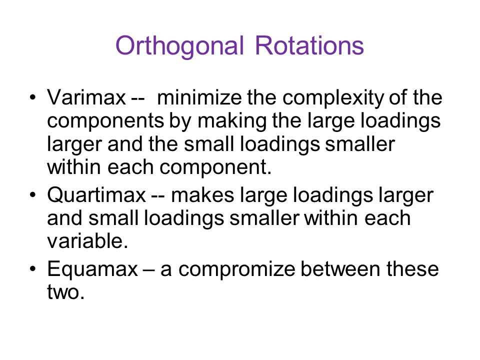 Orthogonal Rotations