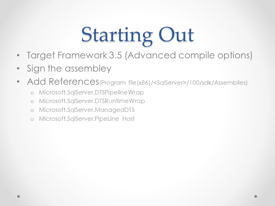 Starting Out Target Framework 3.5 (Advanced compile options)