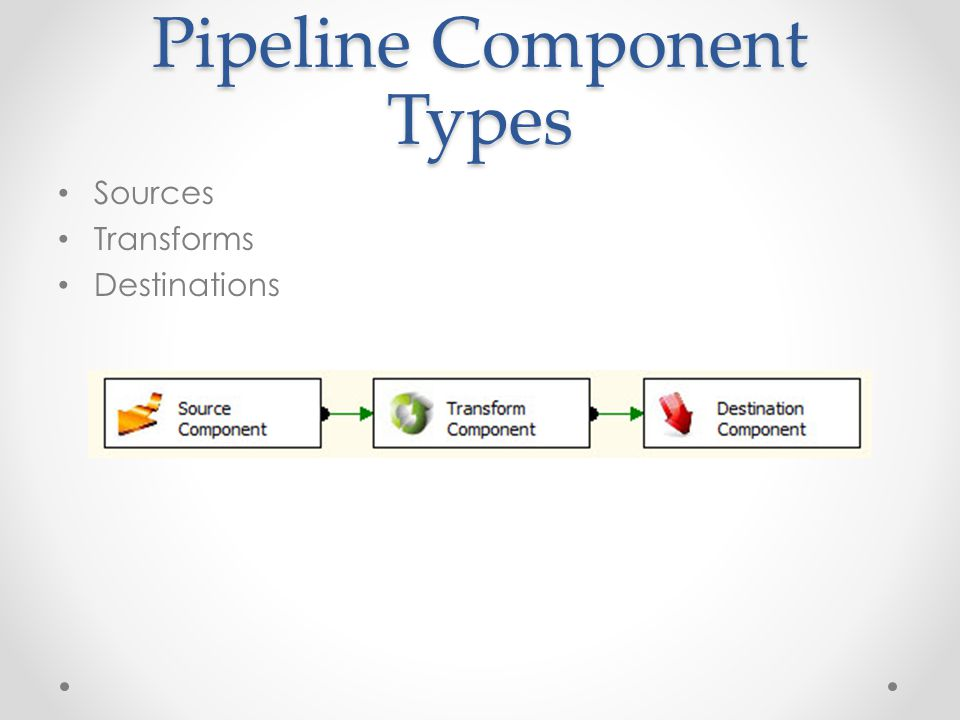 Pipeline Component Types