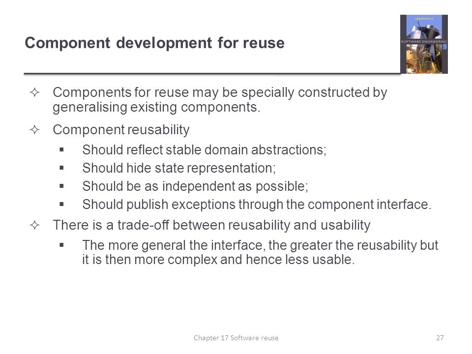 Component development for reuse