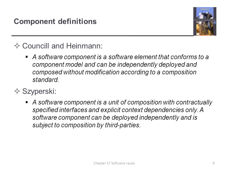 Component definitions