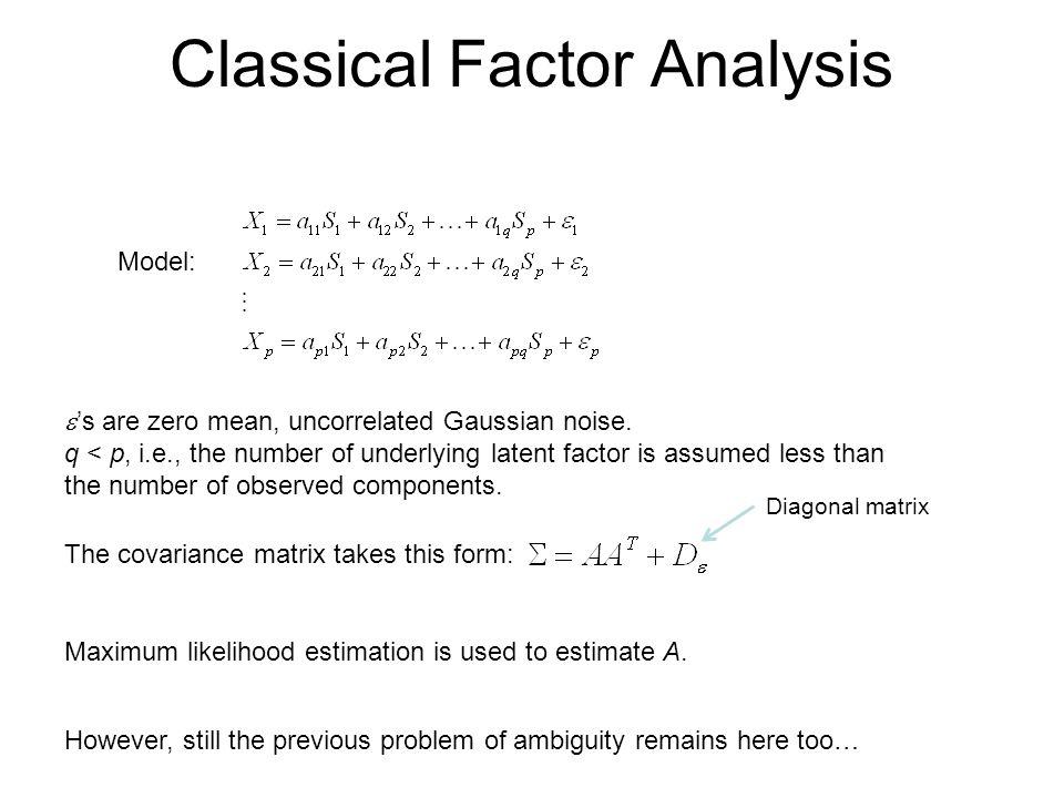 Classical Factor Analysis