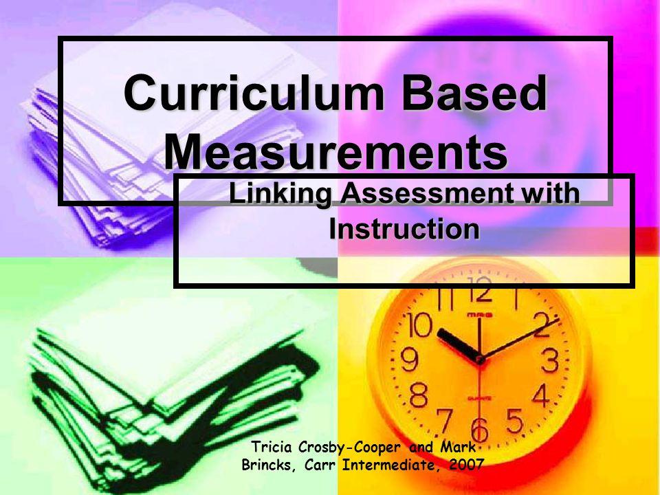 Curriculum Based Measurements