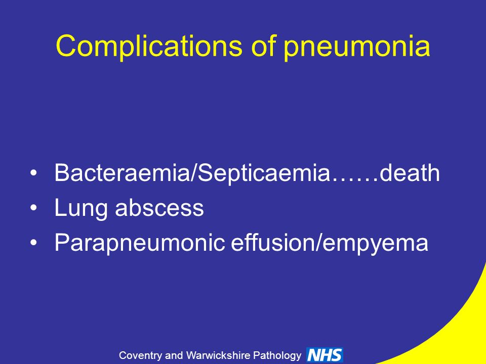 Complications of pneumonia