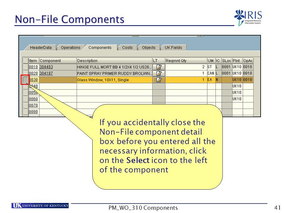 Non-File Components