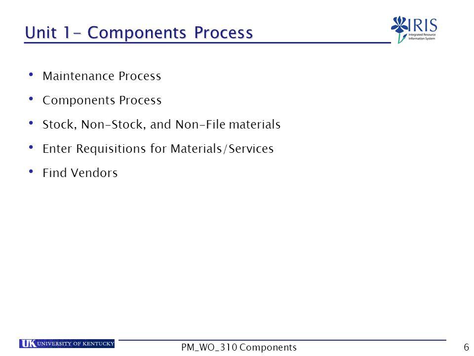Unit 1- Components Process