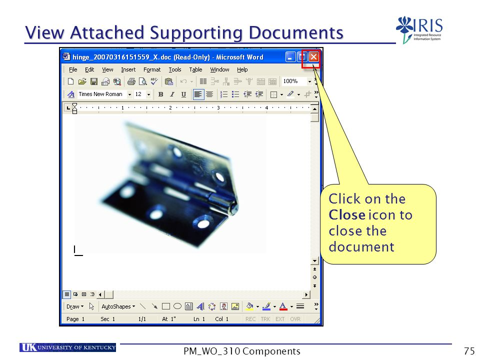 View Attached Supporting Documents