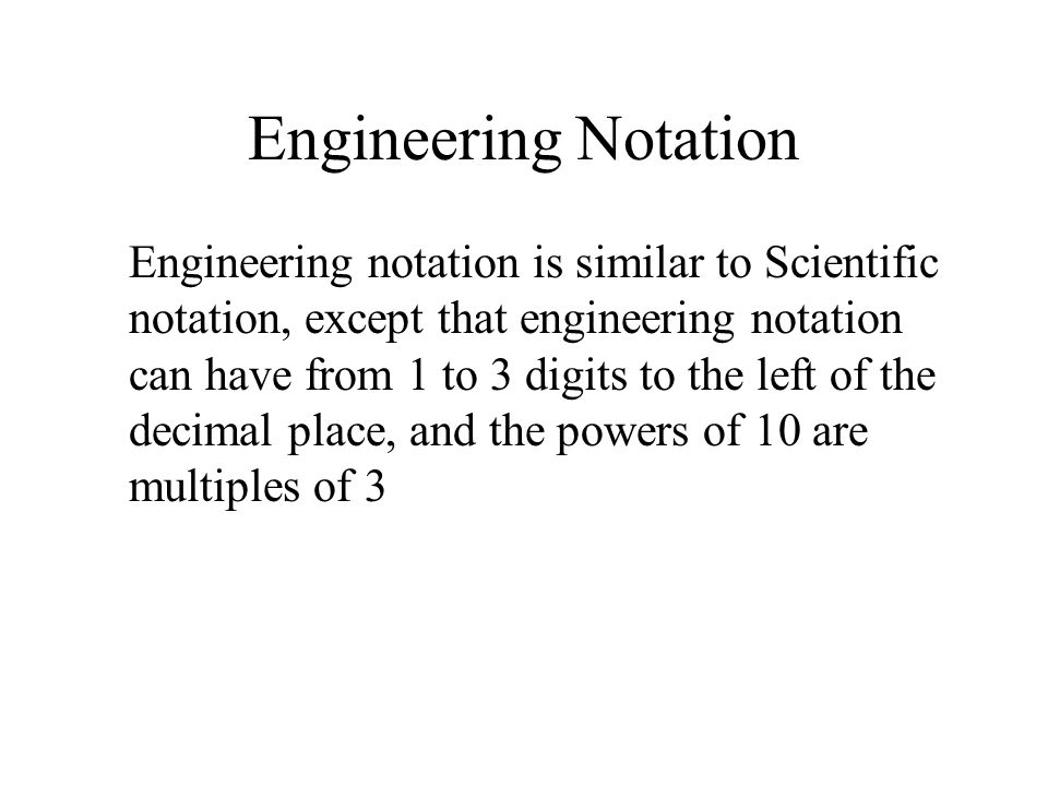 Engineering Notation