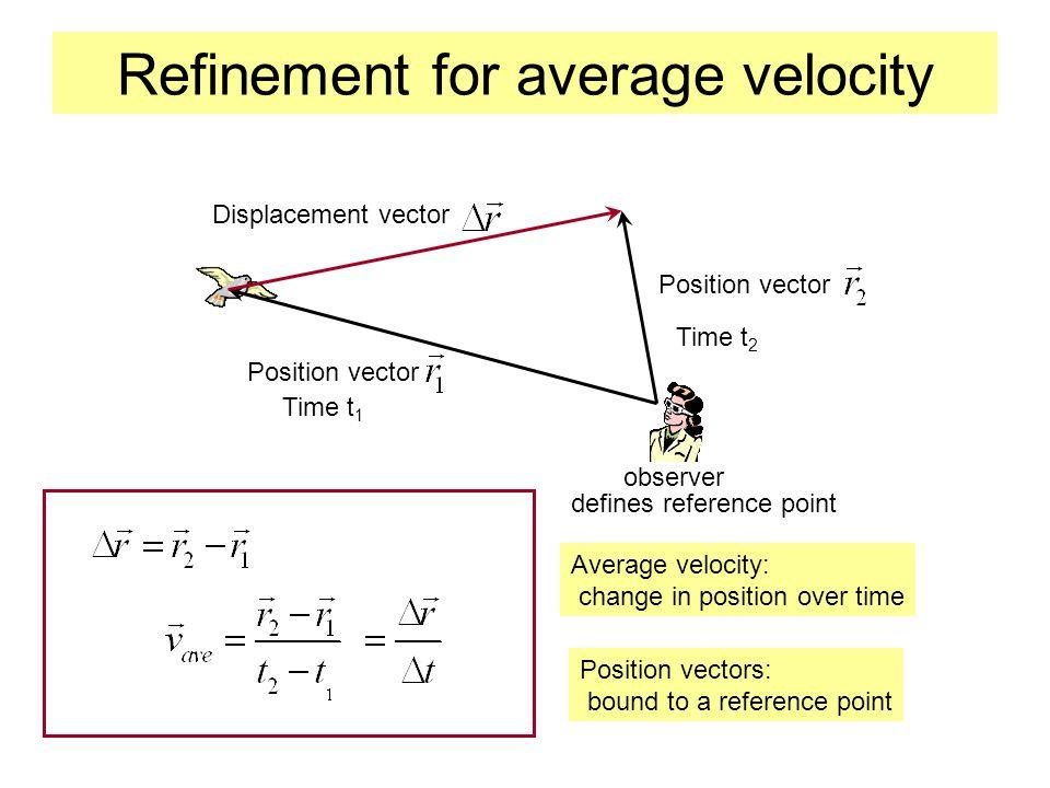 Refinement for average velocity