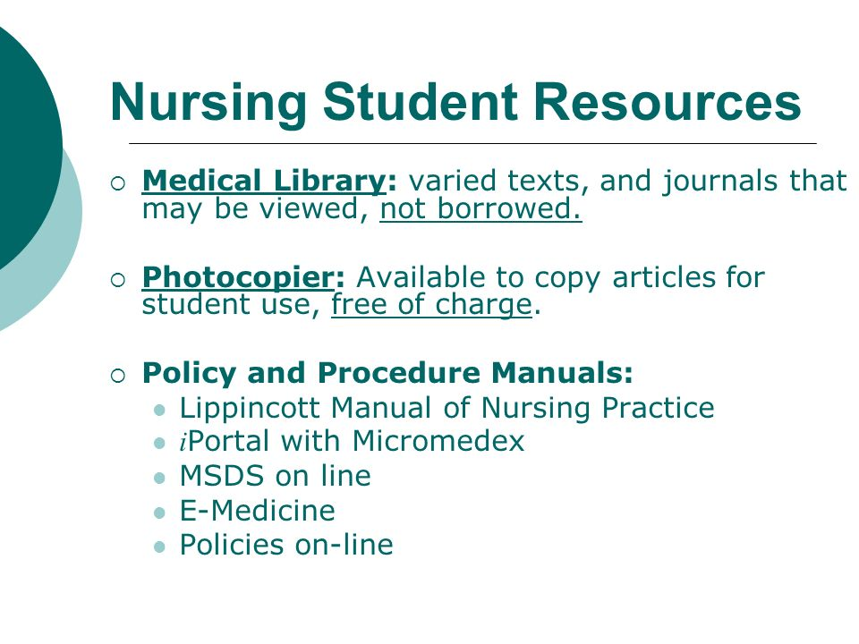 Nursing Student Resources