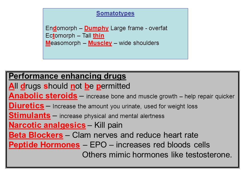 Performance enhancing drugs All drugs should not be permitted