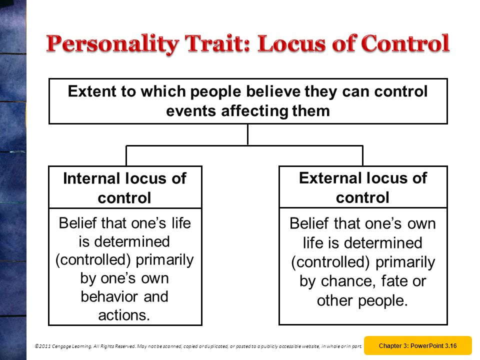 Personality Trait: Locus of Control