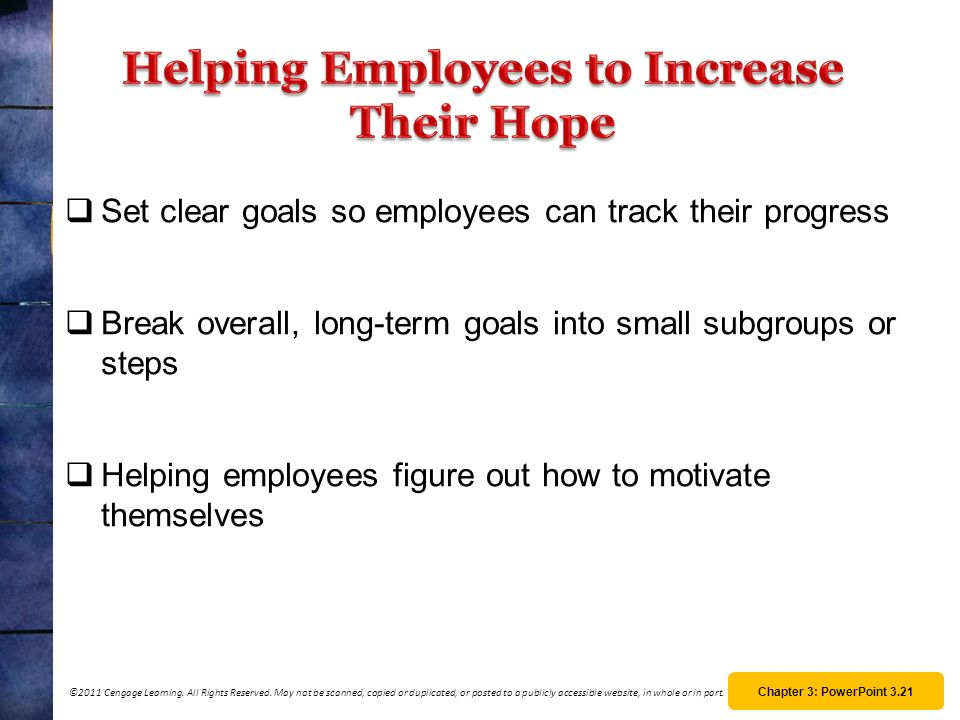 Helping Employees to Increase Their Hope