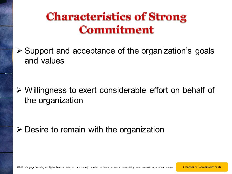 Characteristics of Strong Commitment