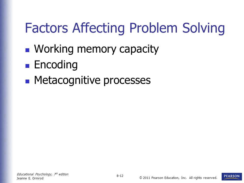 Factors Affecting Problem Solving