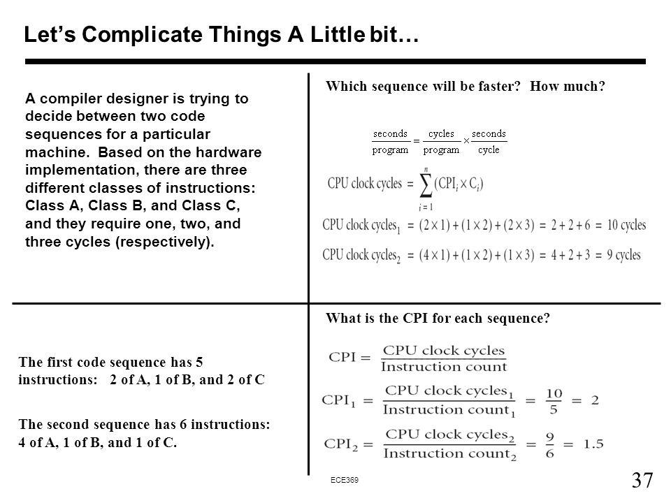 Let's Complicate Things A Little bit…