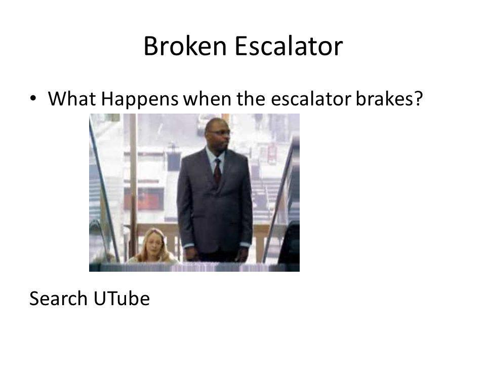 Broken Escalator What Happens when the escalator brakes Search UTube
