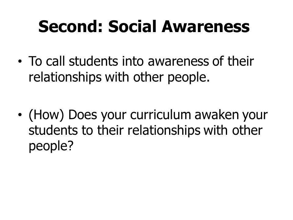 Second: Social Awareness