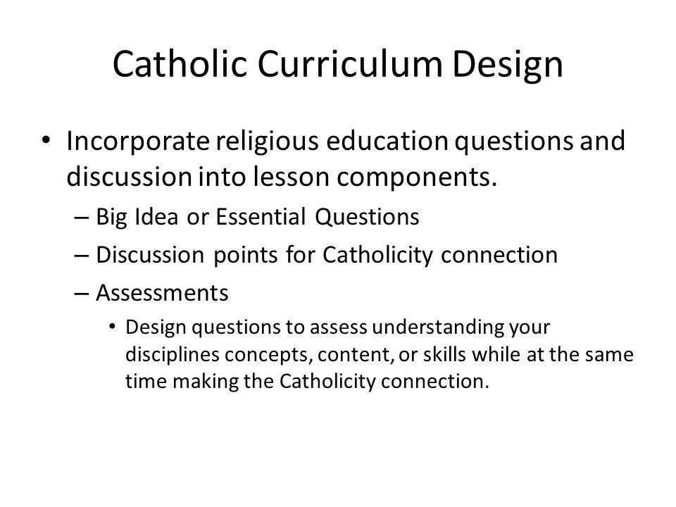 Catholic Curriculum Design