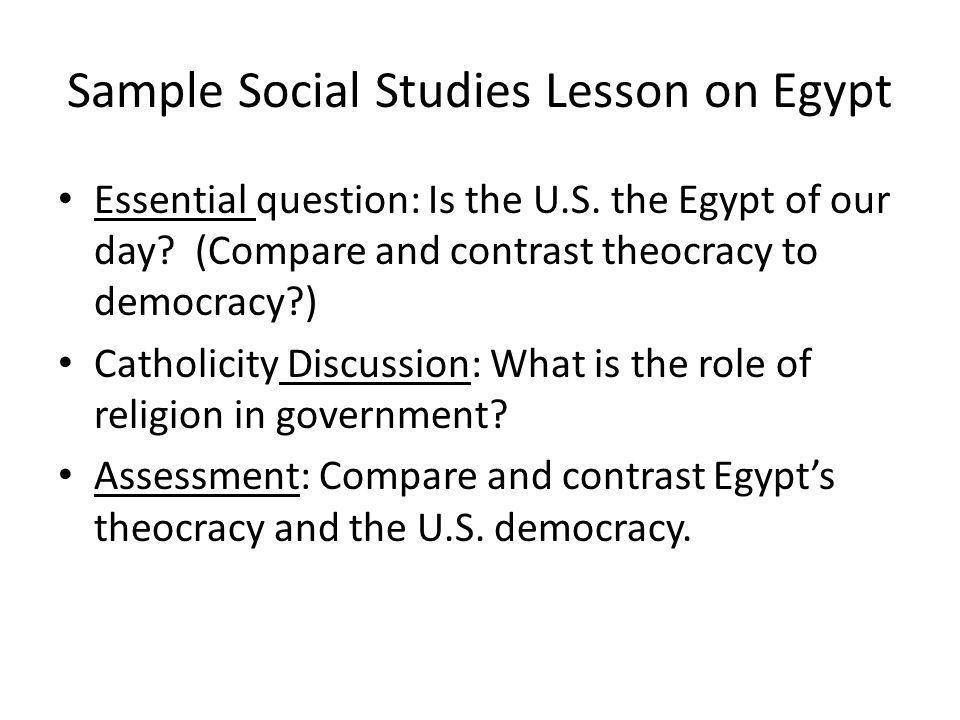 Sample Social Studies Lesson on Egypt