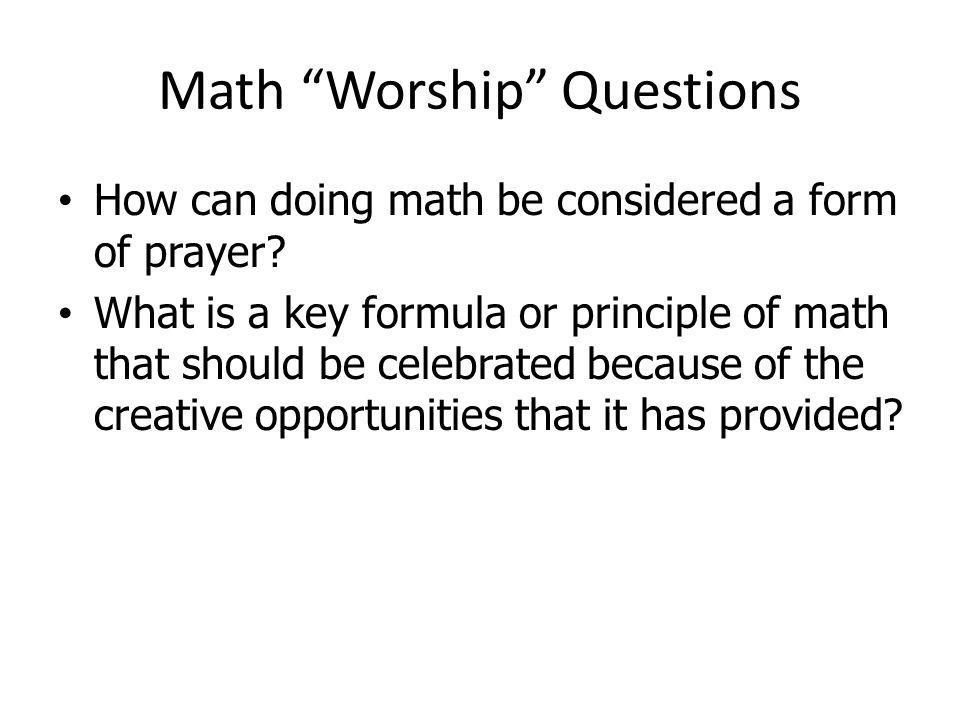 Math Worship Questions