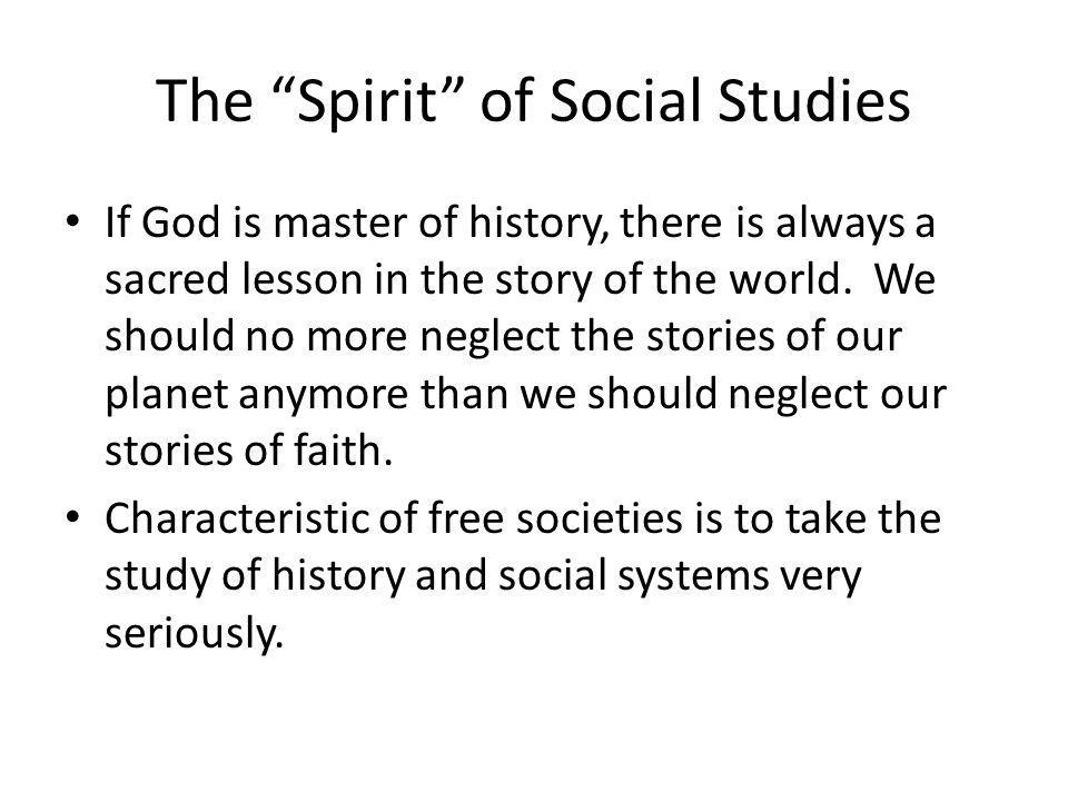 The Spirit of Social Studies