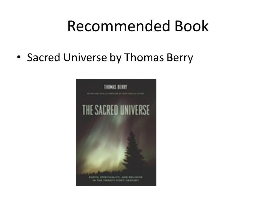 Recommended Book Sacred Universe by Thomas Berry