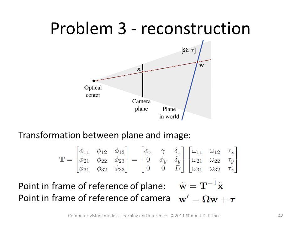 Problem 3 - reconstruction
