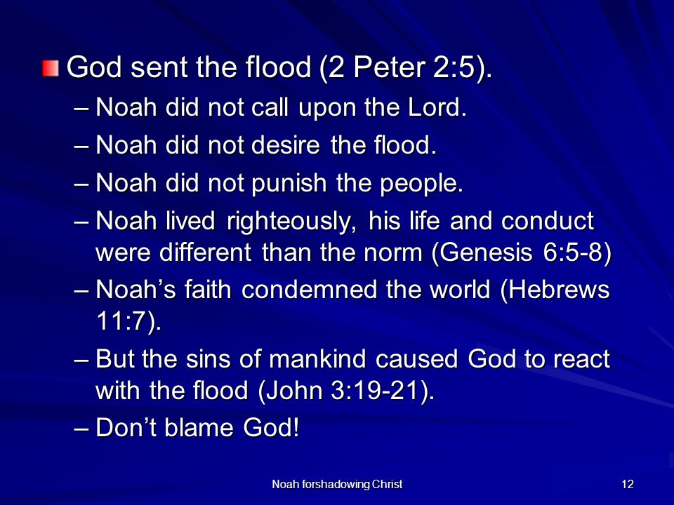 Noah forshadowing Christ