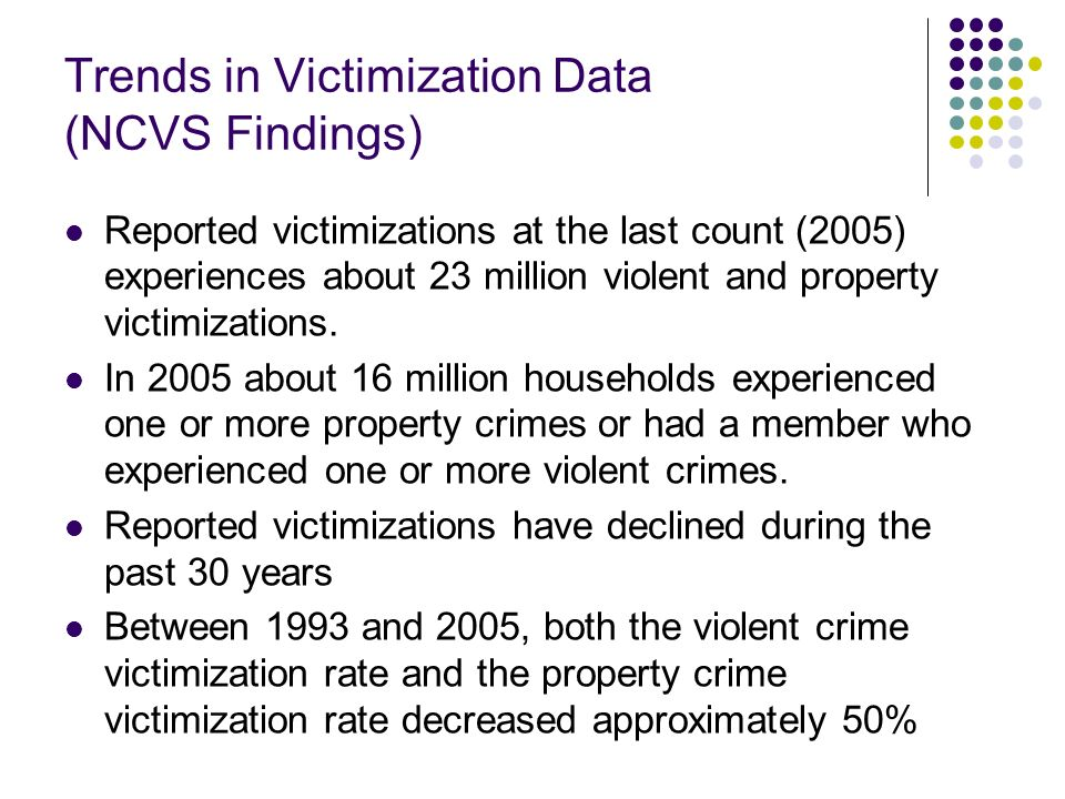 Trends in Victimization Data (NCVS Findings)