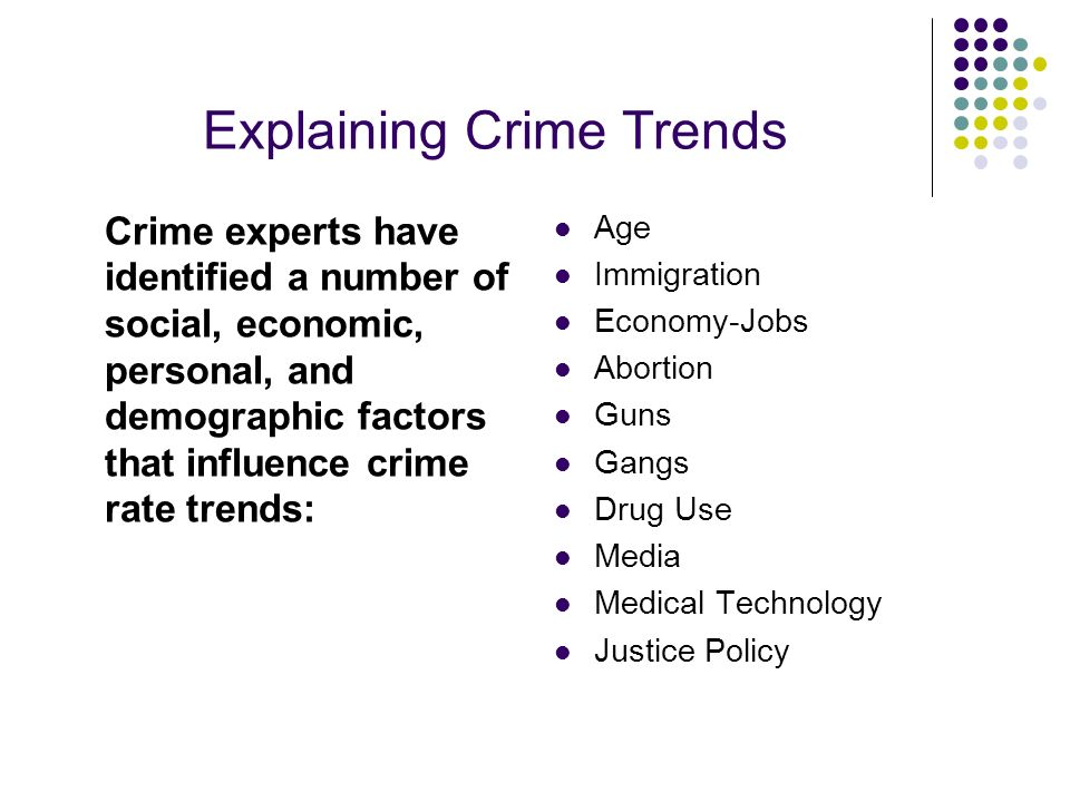 Explaining Crime Trends