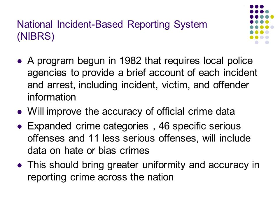 National Incident-Based Reporting System (NIBRS)