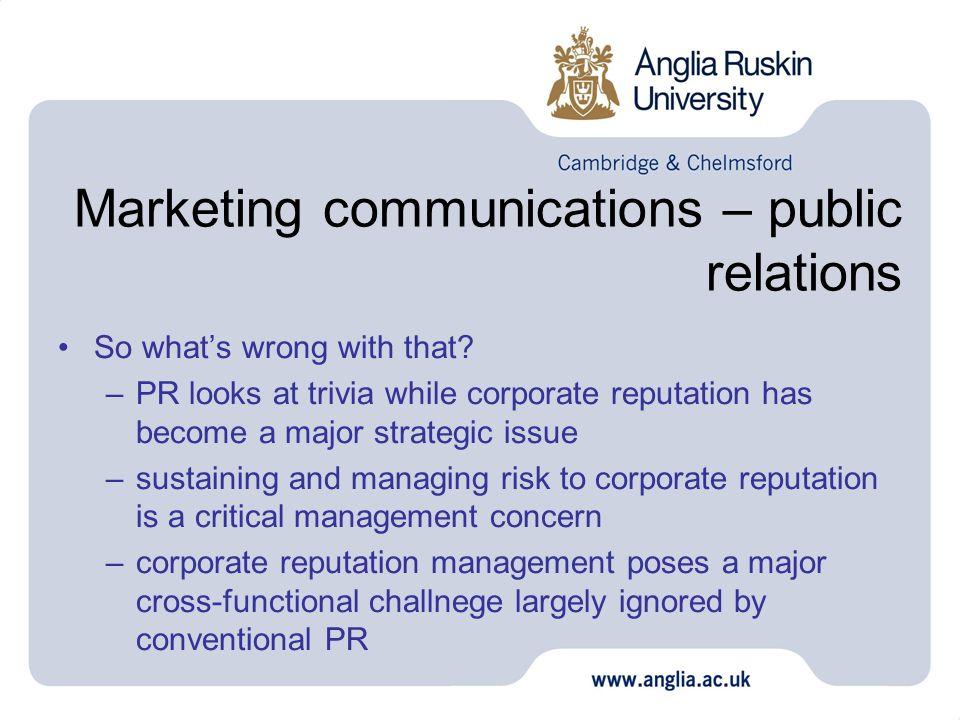 Marketing communications – public relations