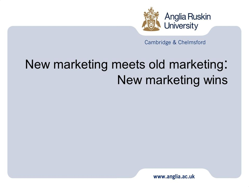 New marketing meets old marketing: New marketing wins