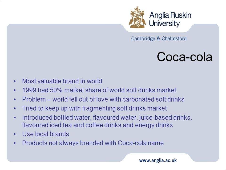 Coca-cola Most valuable brand in world