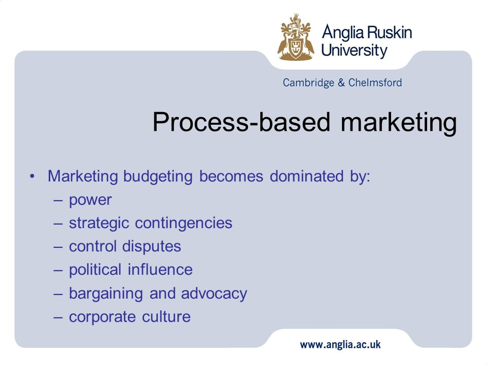 Process-based marketing