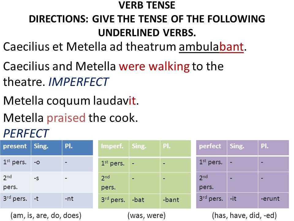Caecilius et Metella ad theatrum ambulabant.