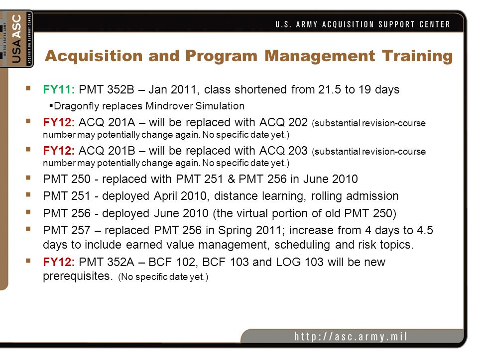 Acquisition and Program Management Training