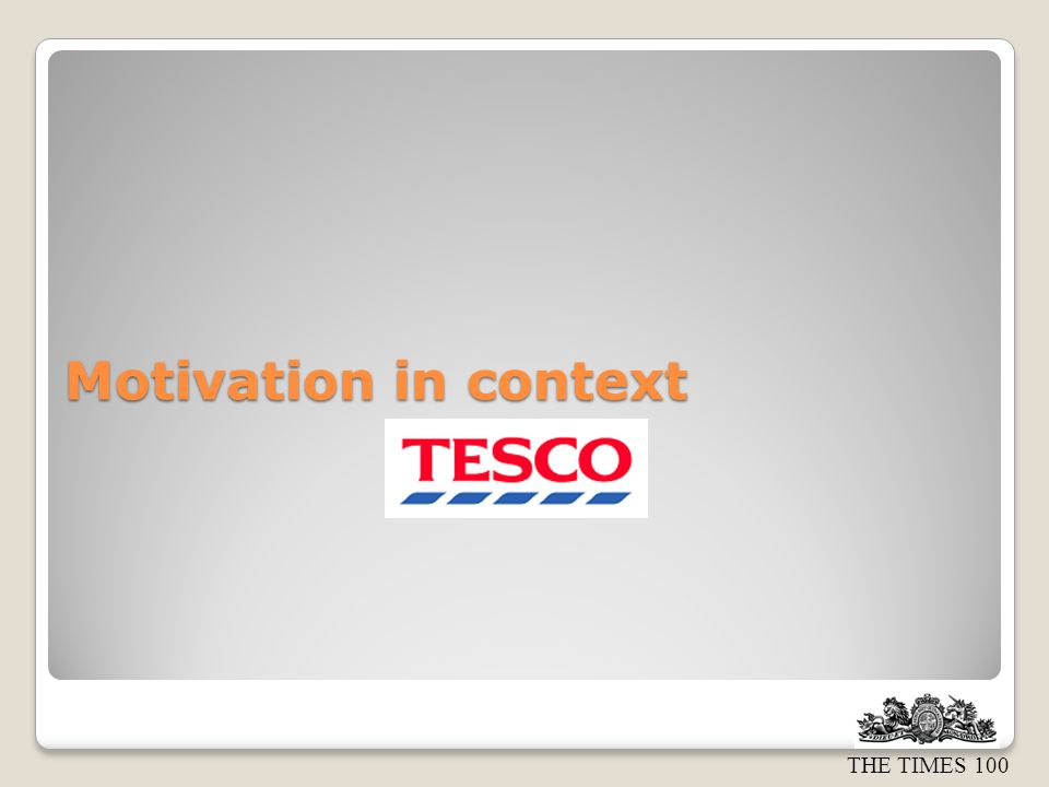 Motivation in context