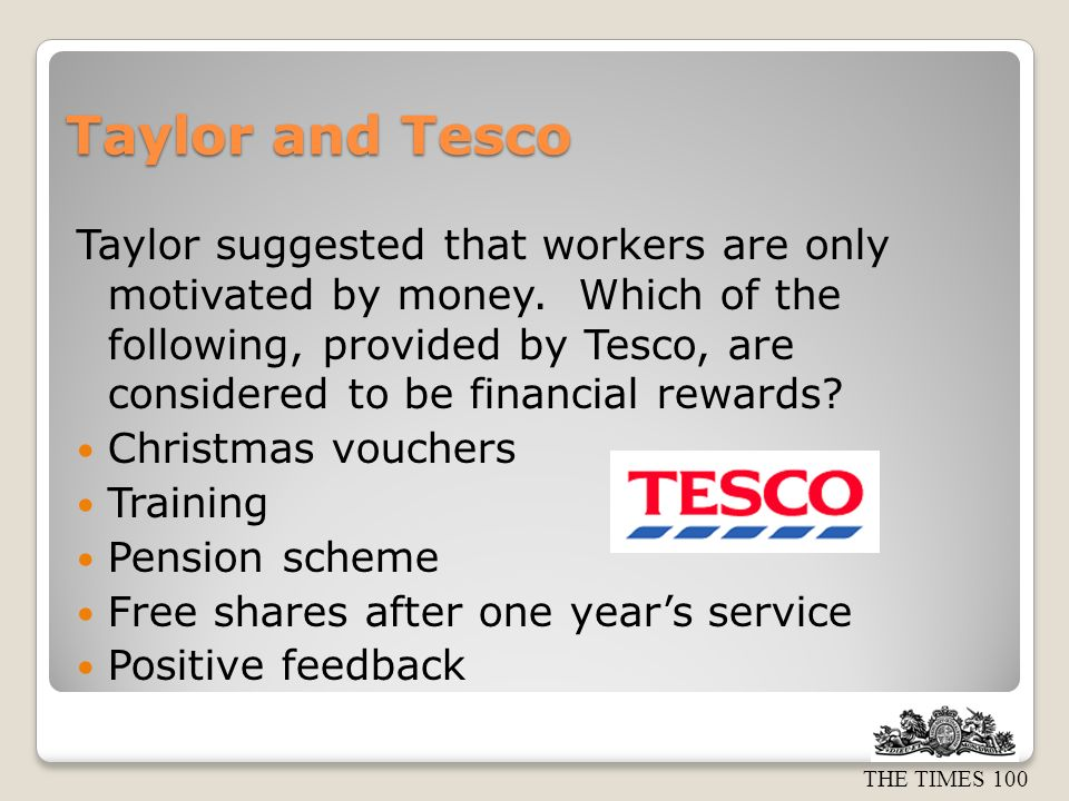 Taylor and Tesco