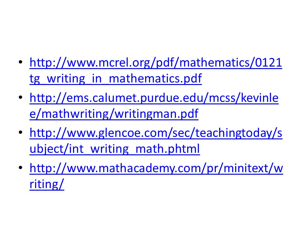 http://www. mcrel. org/pdf/mathematics/0121tg_writing_in_mathematics