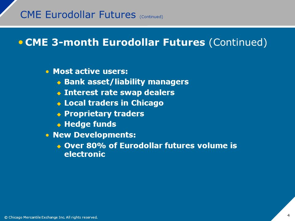 CME Eurodollar Futures (Continued)