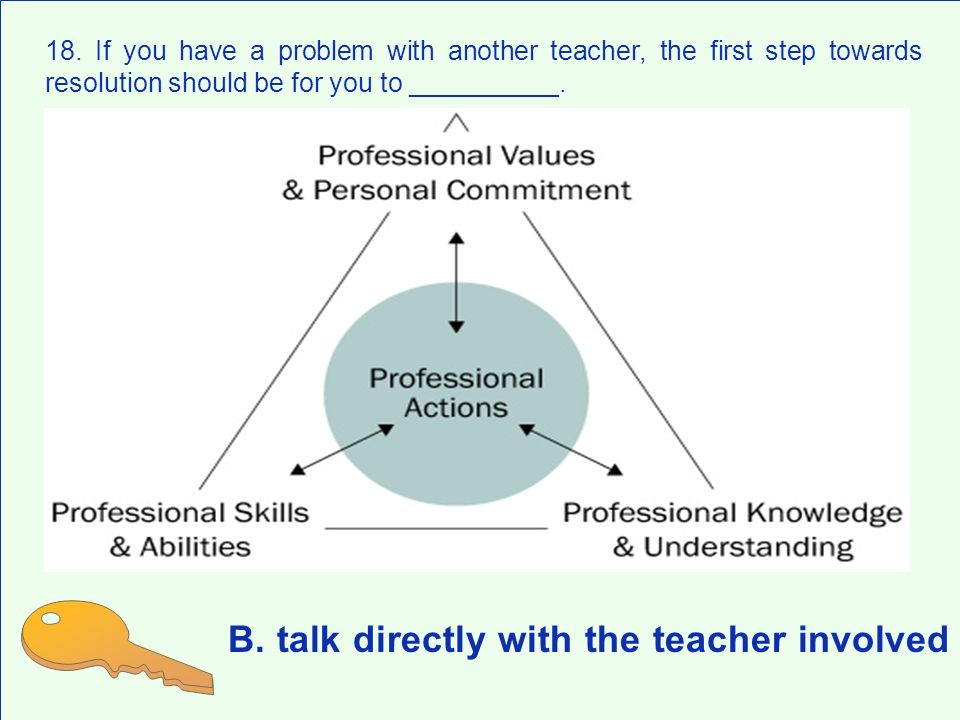 B. talk directly with the teacher involved