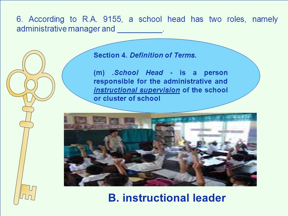 B. instructional leader