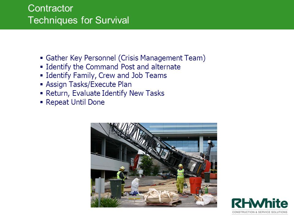Contractor Techniques for Survival