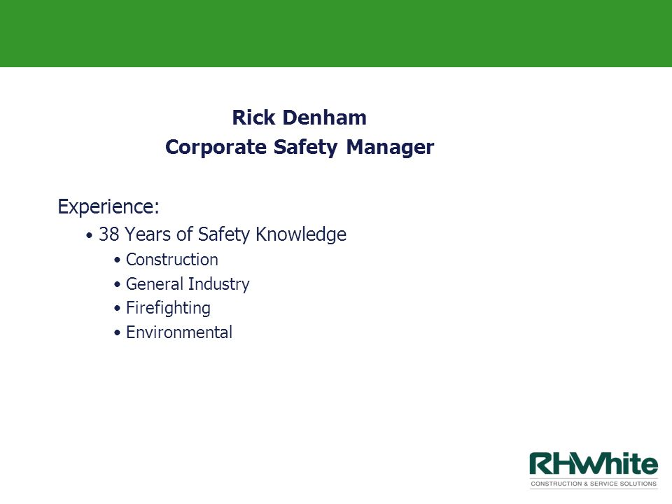 Corporate Safety Manager