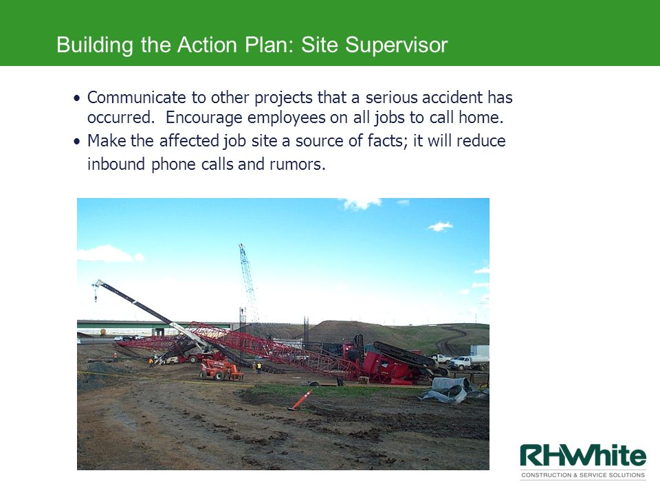 Building the Action Plan: Site Supervisor