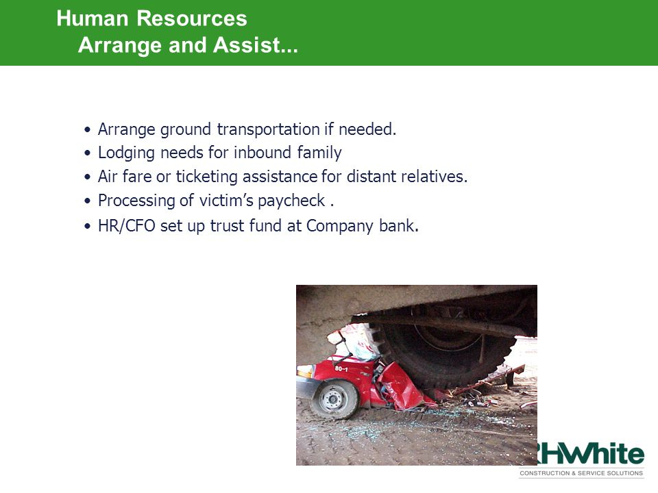 Human Resources …Arrange and Assist...